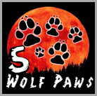 5 wolf paws