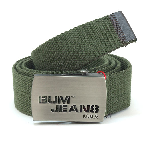 B.U.M. Equipment Canvas Belt - BEB037 (Army Green)