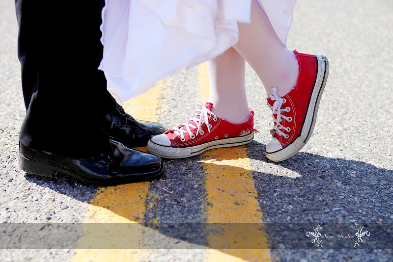 Although She Did Have Traditional Wedding Shoes That Were Gorgeous We Couldnt Resist Getting A Few Shots In Her Favourite Red Converse Sneakers