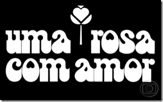 logotipo novela uma rosa com amor