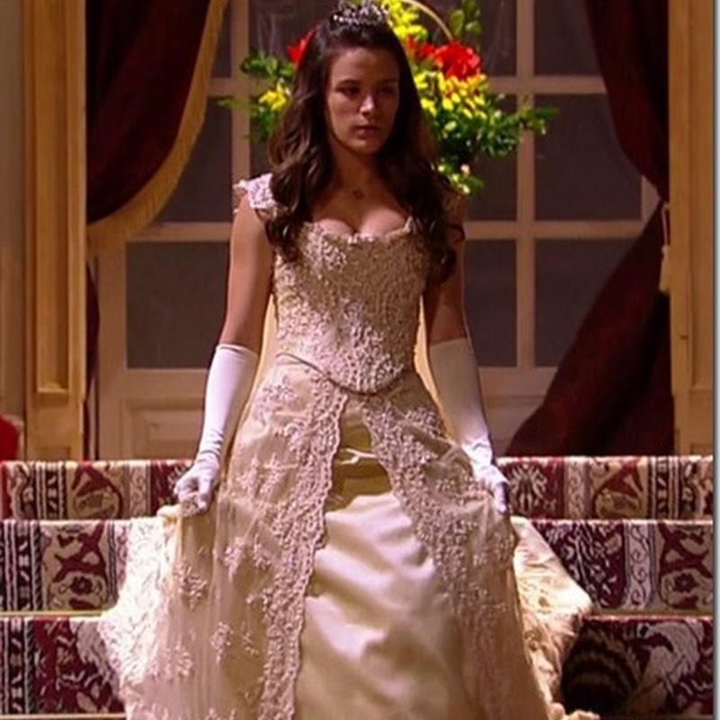 Primeiro vestido da Princesa Aurora da novela Cordel Encantado