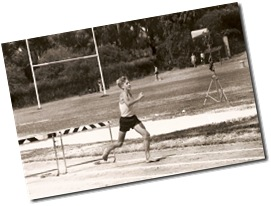 1976: Running hurdles at 13