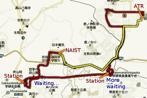 Naist and ATR map