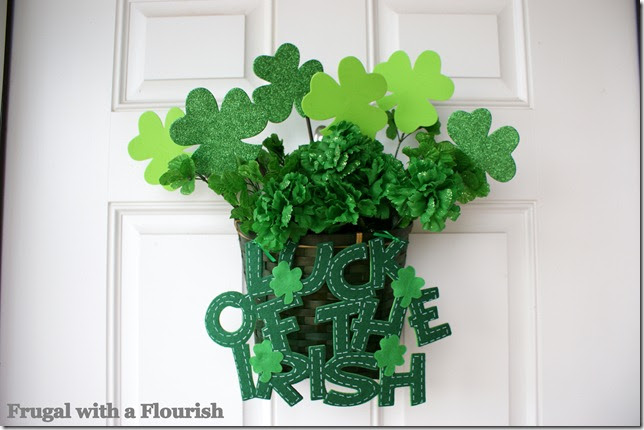 Frugal With A Flourish St Patricks Day Welcome