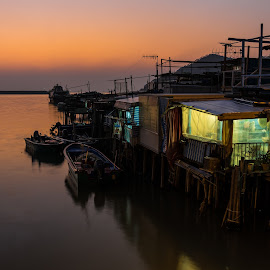 Tai O's evening by 錦 吳 - Landscapes Travel ( hong kong, tai o, sunset, magic hour, evening )