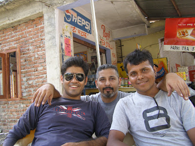 Sushil, Yours Truly and Santosh