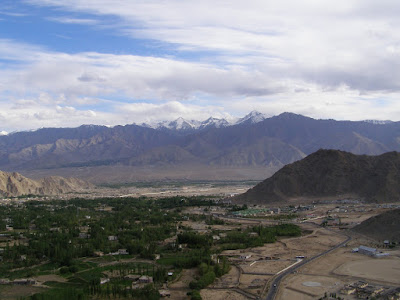 Leh as seen from Shanti Stupa