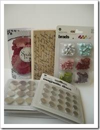 цветочки, штамп, брадсики и магниты