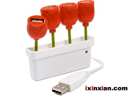 郁金香USB集线器(USB tulip hub)-爱新鲜