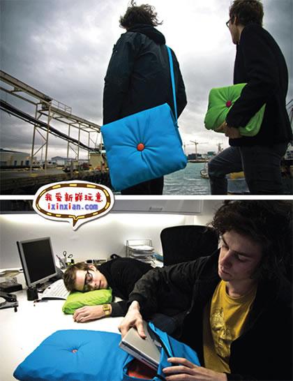 笔记本包+枕头+坐垫=The Napbook-爱新鲜