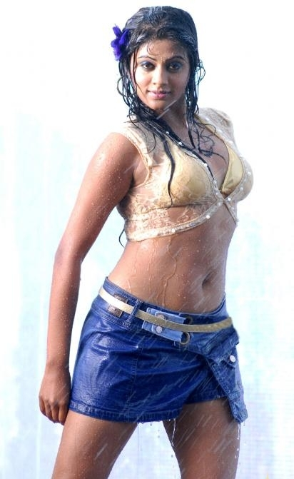Hot Tamil Actress Priyamani Wet In Bikini