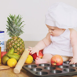Little Chef by Diána Barócsi - Babies & Children Babies ( studio, children, baby, toddler, baby boy )