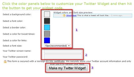 twitter on blogger 2.2