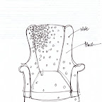 Original Drawing of Constellation Chair