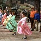 The barn raisin' in Seven Brides for Seven Brothers