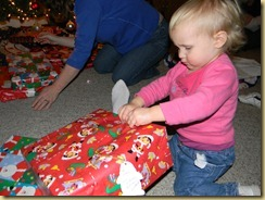 Emma tearing into her gift at aunt lauries 12/14/10