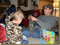Tyler openning his camo! 12/14/2010
