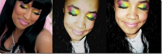 kelly nicki minaj bedrock inspired makeup