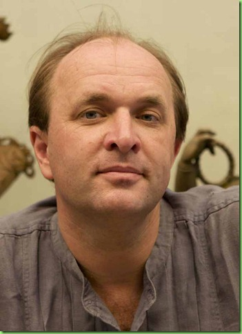 William Dalrymple at the ??? Industries which specializes in making bronze statues in the Chola style using the Lost Wax Process. Swamimalai. Tamil Nadu, India