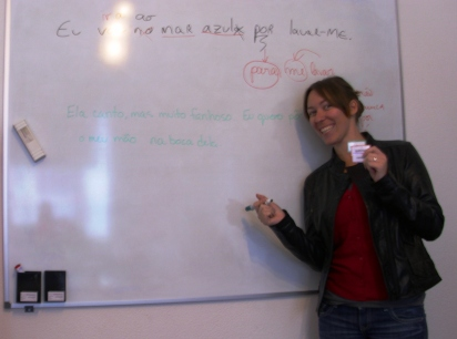 Portuguese Language student in the classroom