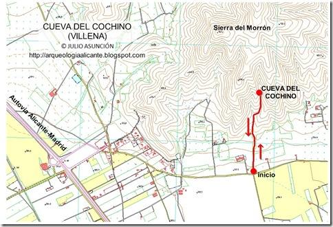 Mapa Cueva del Cochino