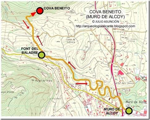 Mapa cova Beneito