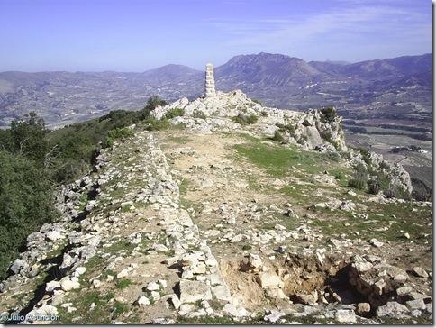 Cima de La Serreta - ubicación del santuario