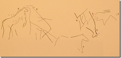 Panel animales - Cova Fosca - Vall d´Ebo