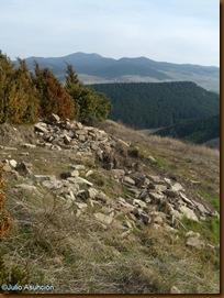Murallas flanco sur - castro de Urri - Ibiricu