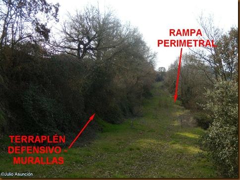 Rampa perimetral y murallas - Castro de Urri - Ibiricu
