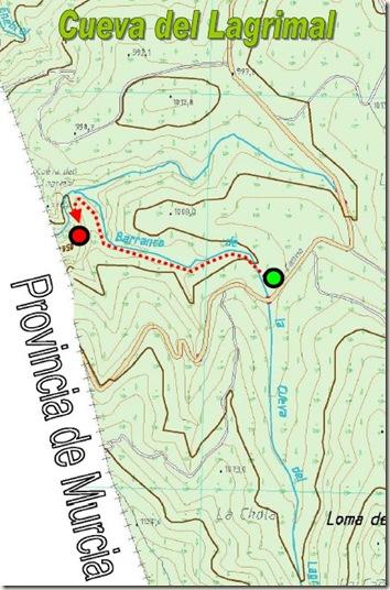 Mapa cueva del Lagrimal