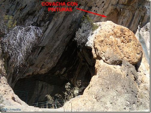 Localización pinturas de la cueva de Santa Maira - Barranco de Famorca - Alicante