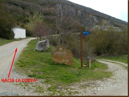 Desvio hacia la Cueva del Diablo - Guerendiáin
