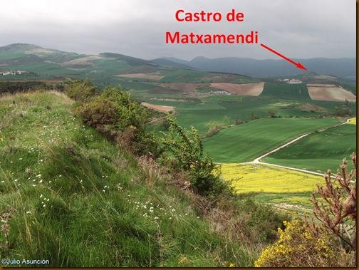 Panorámica desde el castro de Sansol - Muru-Astráin