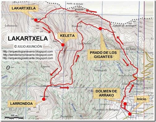 Mapa Lakartxela