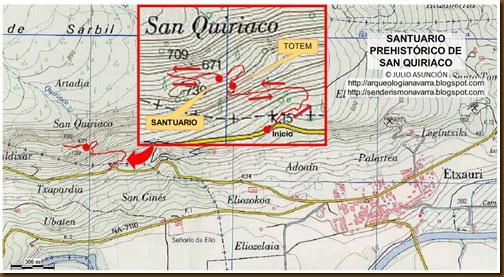 MAPA SANTUARIO PREHISTÓRICO DE SAN QUIRIACO