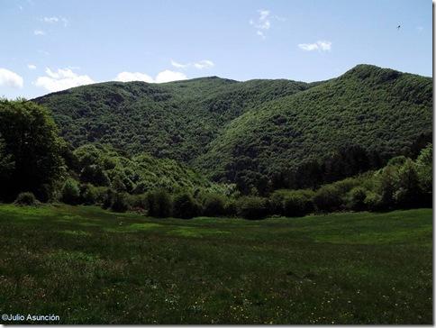 Vista Baigura desde el Espino de Azparren