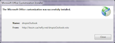Download and Install Drop.io Outlook Plugin