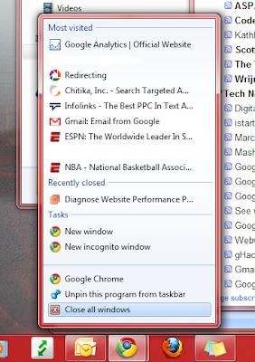 Clear Recent Jumplist Items In Windows 7