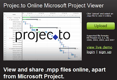 View Microsoft Project Document Online with Projec.to
