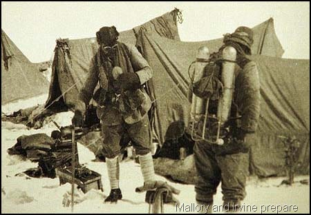 [George Mallory and Andrew Irvine preparing to leave their camp near Everest in 1924.[12].jpg]