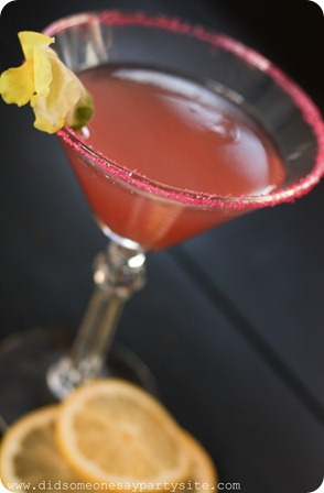 Raspberry Lemonade Martini