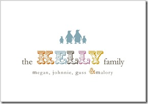family note card example