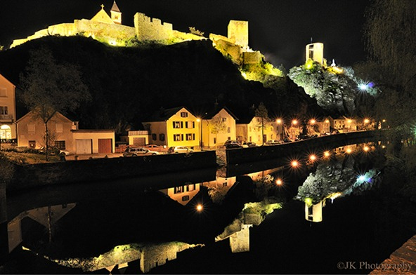 Esch sur Sure Castle at Night
