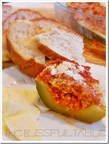 Stuffed Zucchini Boat 025a
