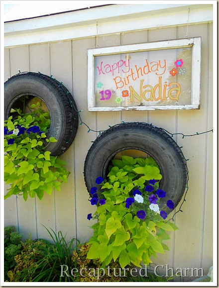 Old Window Birthday Sign 027a