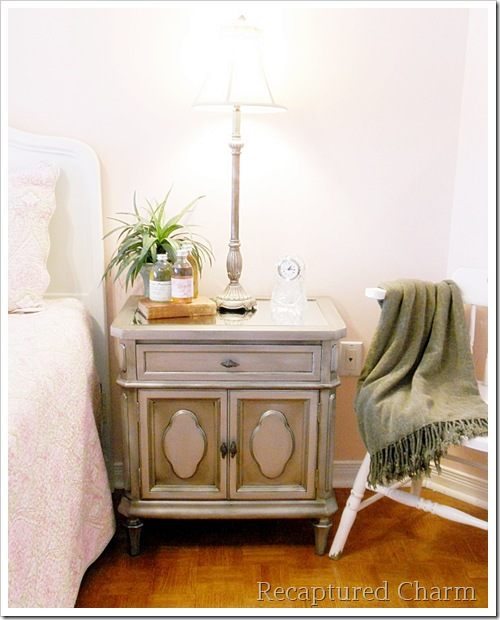 Silver Metallic Night Stands 045a