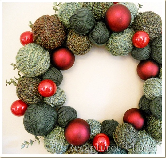 yarn christmas wreath 031b
