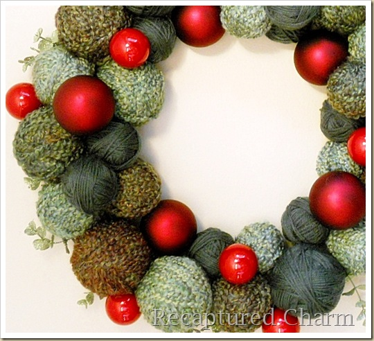 yarn christmas wreath 016b