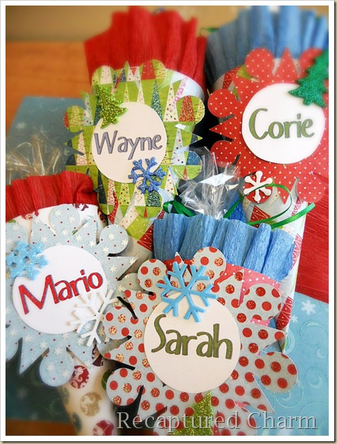 Paper Cone Party Favor Place Cards 043a